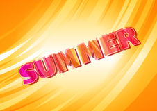 Warm summer card Royalty Free Stock Photography