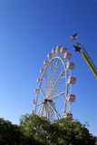 Warm summer day at the carnival. With USA flag Stock Photography