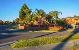 Warm summer evening in Hallam. The State Of Victoria. Australia stock photo
