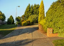 Warm summer evening in Hallam. Royalty Free Stock Photography