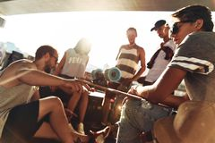 Warm sun and best friends. royalty free stock images