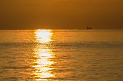 Warm sunrise on holiday. In indonesia stock images