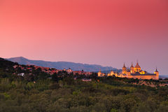 Warm Sunset in El Escorial Monastery Stock Image
