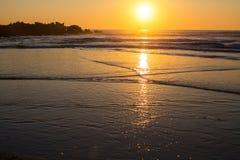 Warm sunset on the sea coast. Nature. Stock Photography