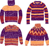 Warm sweaters Royalty Free Stock Images