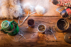 Warm tea on a winter day Royalty Free Stock Photos