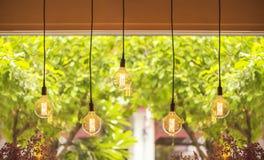 Warm tone light bulb lamps Stock Photography