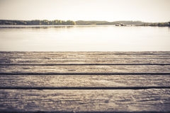 Warm Toned Lakeside view Stock Photos
