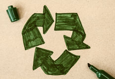 Recycling symbol Royalty Free Stock Photos