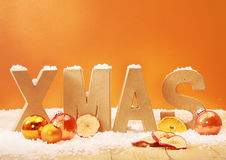 Warm toned Xmas background Stock Photography