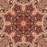 Warm Turkish Kaleidoscope. In red and beige Royalty Free Stock Photo