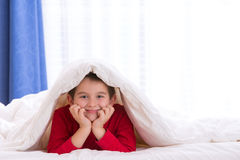 Warm under the Blanket Royalty Free Stock Image