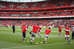 Warm Up 2 do arsenal Imagem de Stock Royalty Free