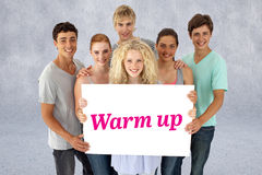 Warm up against grey wall Royalty Free Stock Image