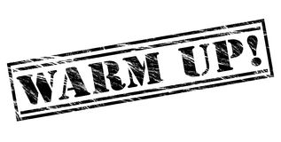Warm up black stamp Royalty Free Stock Image