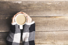 Warm up with hot coffee drink Royalty Free Stock Photo