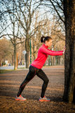 Warm-up before jogging Stock Image