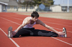 Warm Up Leg Stretch Stock Photography