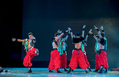 Warm-up-The Mongolians-The national folk dance Royalty Free Stock Photos