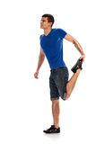 Warm up. stretching sporty man Royalty Free Stock Image