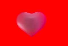 Warm valentine heart isolated .valentine Stock Photo