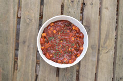 Warm vegan chili Royalty Free Stock Photo