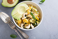 Warm vegetable quinoa salad Stock Photo