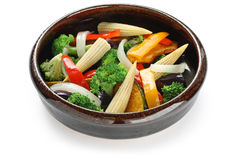 Warm vegetable salad Royalty Free Stock Photo