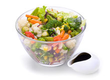 Warm vegetable salad Stock Images