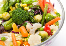 Warm vegetable salad Stock Photo