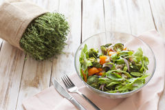 Warm vegetable salad. Stock Photo