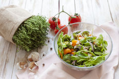 Warm vegetable salad. Royalty Free Stock Images