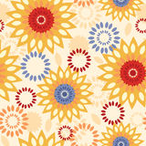 Warm vibrant floral abstract seamless pattern Royalty Free Stock Photos