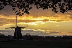Dutch ritual sunrise royalty free stock photos