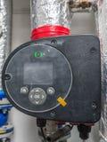 Warm water circulatiepomp stock foto's