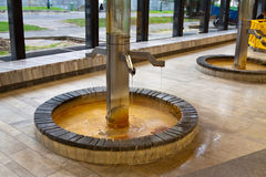 Warm-water mineral spring Royalty Free Stock Photos