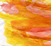 Warm watercolor background Stock Images