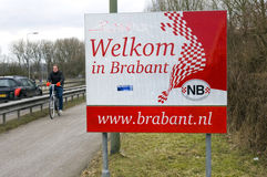 Warm welcome in Brabant on gray, cold winter day Stock Photos