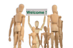 Warm welcome group of people Stock Photo