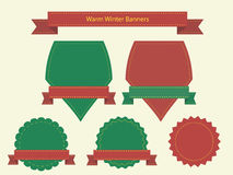 Warm winter banners Royalty Free Stock Photo