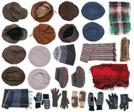 Warm winter clothes Royalty Free Stock Images
