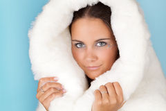 Warm winter coat Royalty Free Stock Image