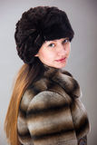 Warm winter coat Stock Photo