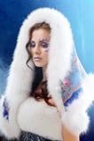 Warm winter coat Stock Images