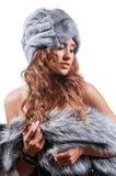 Warm winter coat Royalty Free Stock Photos