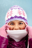 Warm in winter stock image