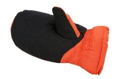 Warm winter glove orange Stock Image