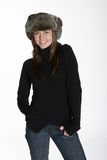 Warm winter hat and sweater Stock Images