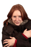 Warm in Winter Jacket Stock Photos