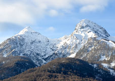 Warm winter in the mountains of Krasnaya Polyana, Sochi royalty free stock images